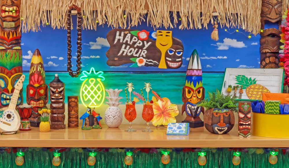 Hawaiian Luau Tiki Decorations
