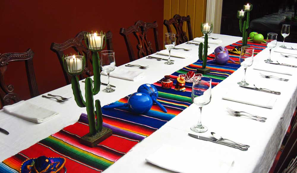 mexican reception centerpieces | banquet table decorations Table Decorations