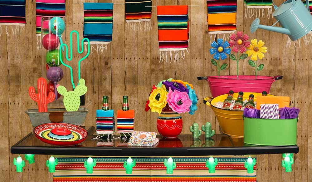 Mexican Fiesta Vibrant Decorations Scene