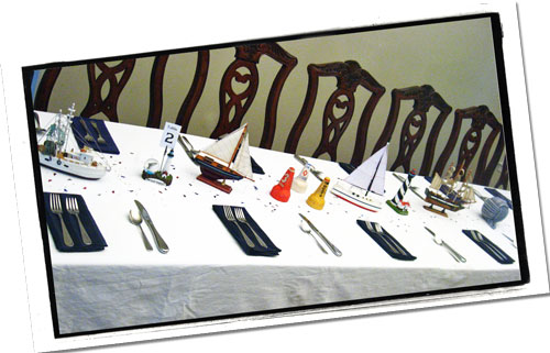 Nautical Banquet or Reception Table