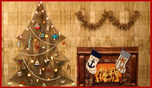 coastal christmas decorations supplies beach sea life ocean nautical holiday decor