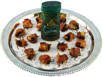 Hawaiian luau tiki party food ideas hors doeuvre recipes rumaki forumfinder Choice Image