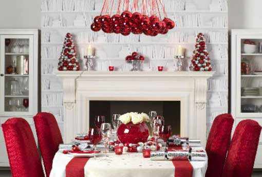 Contemporary Christmas Dining Room
