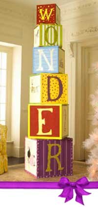 Toyland Christmas Theme Stacked Blocks