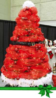 Whimsical Santa Suit Christmas Tree