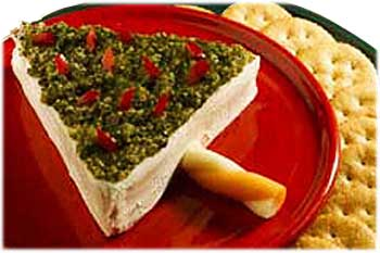Cheesy Christmas Tree Appetizer
