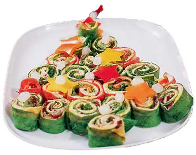 Christmas Tree Wraps Holiday Appetizer