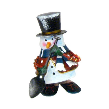 Metal Bouncing Snowman Figure