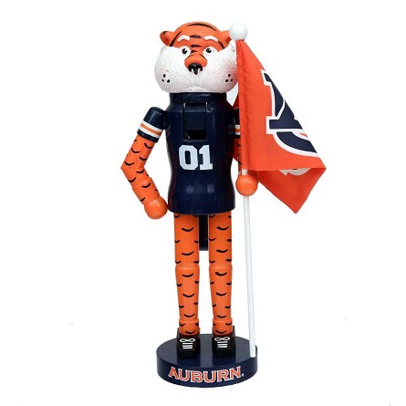 "12"" Auburn University Aubie the Tiger Mascot Nutcracker"