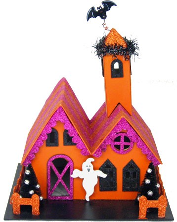 "8"" Halloween Haunted Houses (2 styles) **CLEARANCE**"