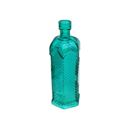"6.5"" Vintage-Style Colored Glass Bottle Bud Vase - 3 colors"