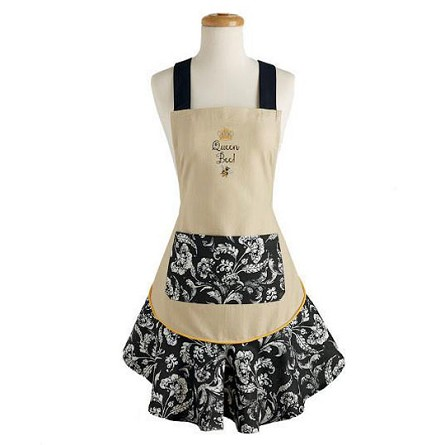 Queen Bee Ruffled Cotton Apron