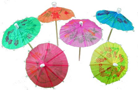 Bright Summer Parasol Picks aka Drink Umbrellas