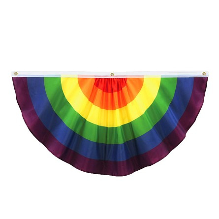 Gay Rainbow Flag Single Swag Fabric Bunting