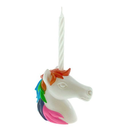 Reusable Unicorn Birthday Candle Holder & Candle