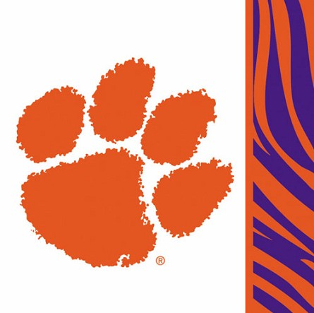 Clemson Tigers Beverage Napkins (20) **CLEARANCE**