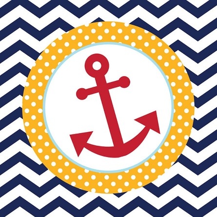 Ahoy Matey! Nautical Anchor Luncheon Napkins (18)