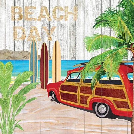 Retro Surfer BEACH DAY Napkins (20) - 2 sizes