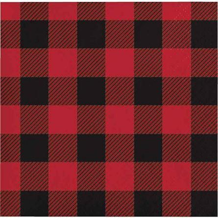 Lumberjack Buffalo Plaid Paper Napkins Fall Country