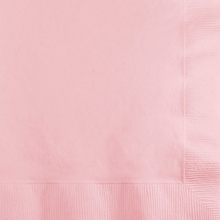 Pastel Pink Paper Napkins (50) - 2 sizes