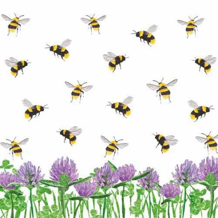 Honey Bees & Clover Beverage Napkins (20)