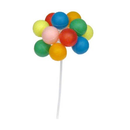 "6.5"" Plastic Balloon Cluster Party Picks (12)"