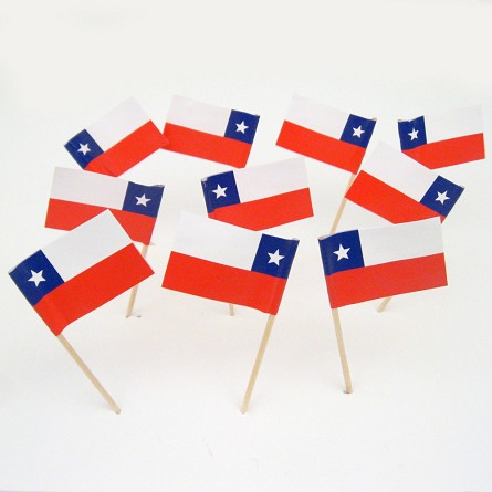 Chile | Chilean Flag Toothpicks (100)
