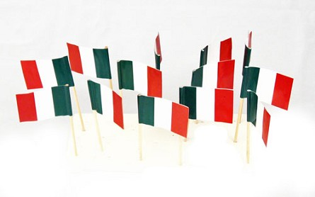 Italy | Italian Flag Toothpicks (100)