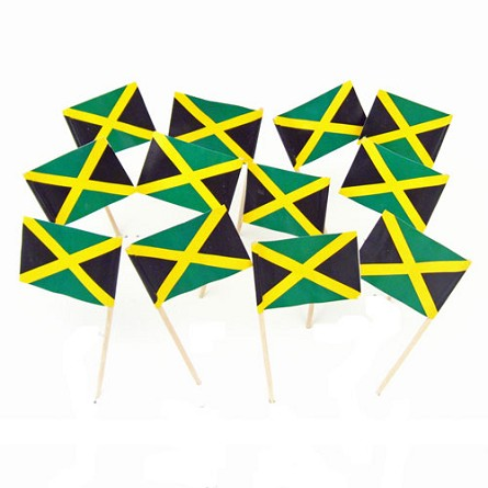 Jamaica | Jamaican Flag Toothpicks (100)