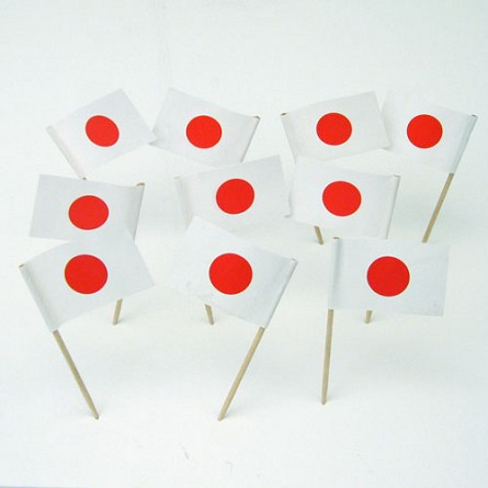 Japan | Japanese Flag Toothpicks (100)