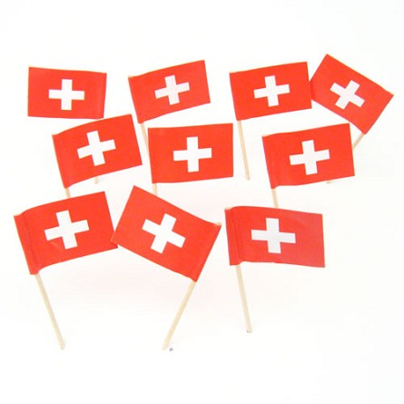 Switzerland | Swiss Flag Toothpicks (100)