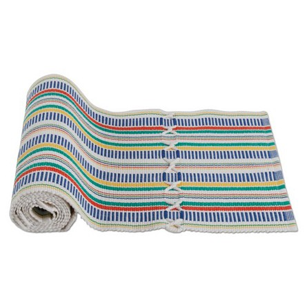 "72"" Multicolor Striped Ribbed Table Runner"