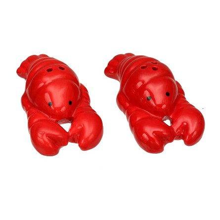 Ceramic Lobster Salt & Pepper Shakers