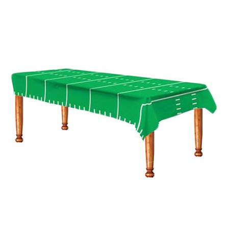 Game Day Football Field Plastic Tablecover