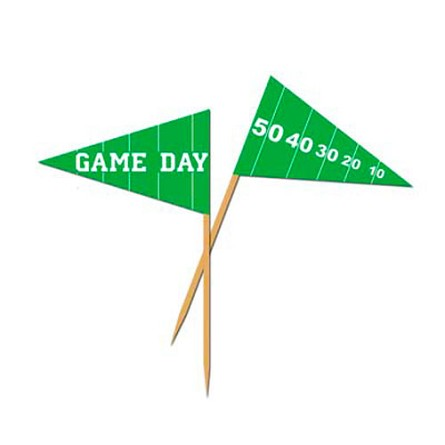 Football Game Day Pennant Flag Toothpicks (50)