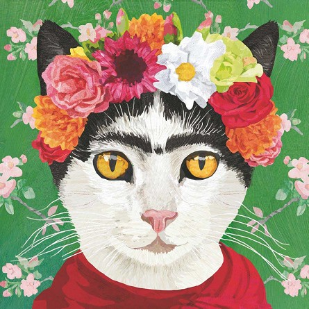 Frida the Cat Napkins (20) - 2 sizes