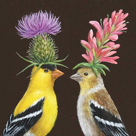 Madcap Goldfinch Couple Napkins (20) - 2 sizes