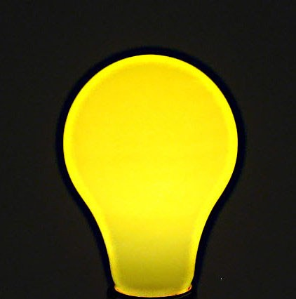 Bulbrite Yellow Light Bulb - 60W Painted Ceramic