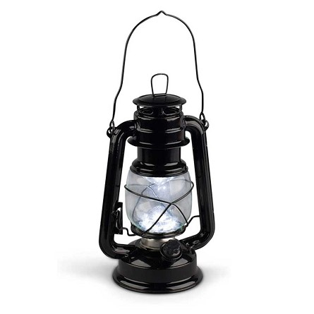 High Intensity LED Vintage-Style Hurricane Lantern - 2 colors