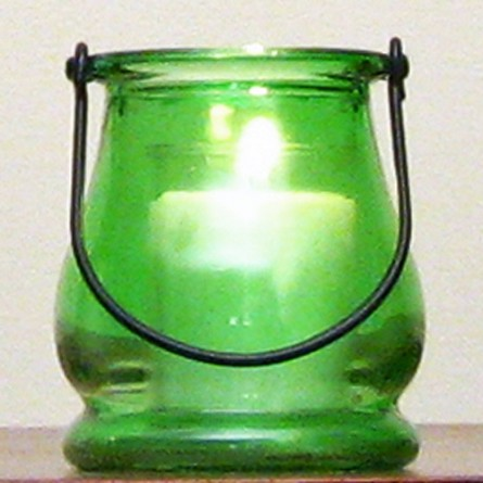 Green Mini Lantern Candle Holder