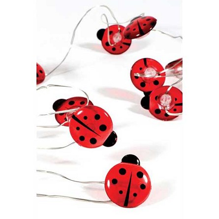 Mini Lady Bugs Fairy Lights (30) - Battery Operated