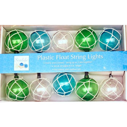 Vintage Glass-Style Buoy Float String Lights