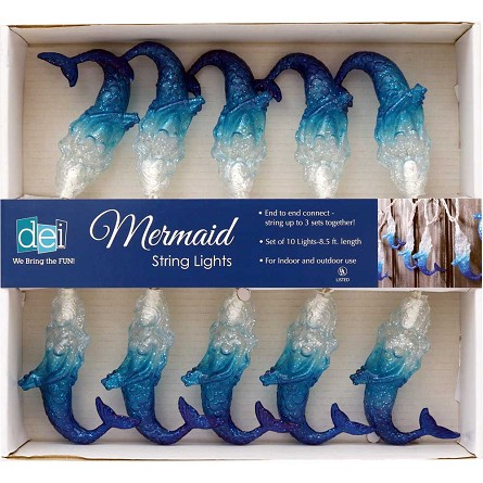 Glittered Mermaid String Lights