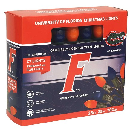 University of Florida C7 Colored Bulb String Lights