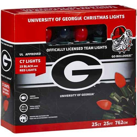 University of Georgia C7 Colored Bulb String Lights