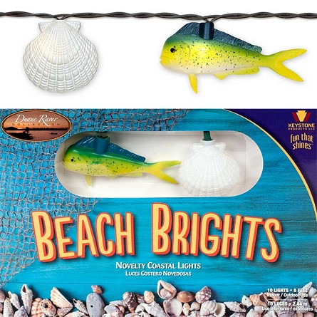 Mahi-Mahi & Scallop Shell String Lights