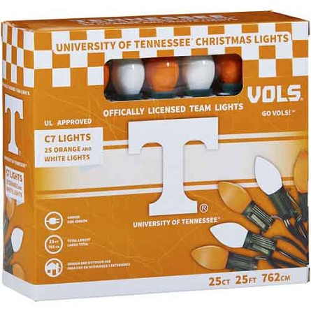 University of Tennessee C7 Colored Bulb String Lights
