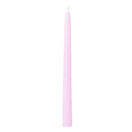Blush Pink Taper Candle 12