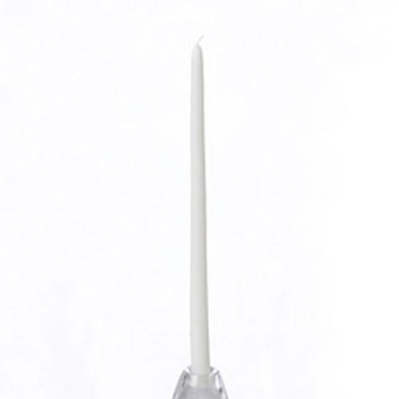 "White Taper Candle 12"" - Unscented (1)"