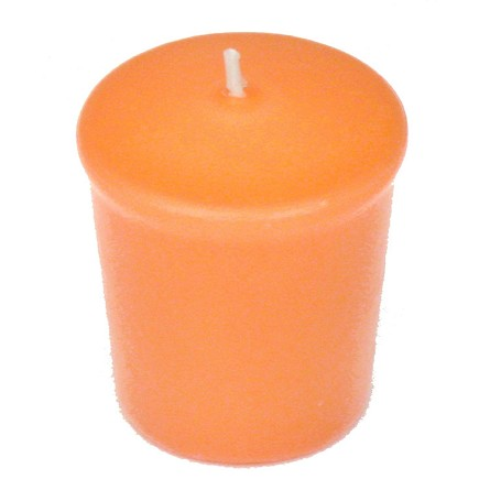 Peach Votive Candle - 15 hr, Unscented, Flared